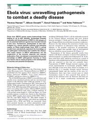 Ebola virus: unravelling pathogenesis to combat a deadly disease