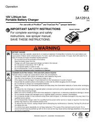 3A1291A - 18V Lithium Ion Portable Battery Charger ... - Graco Inc.
