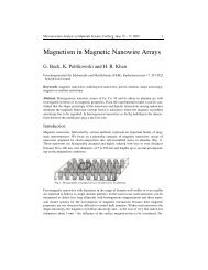 Magnetism in Magnetic Nanowire Arrays