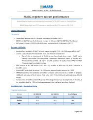 MARG Limited – Q2 2011-12 Performance - MARG Group