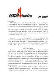 EASCM Newsletter 1 - Zentrum für Ostasienwissenschaften