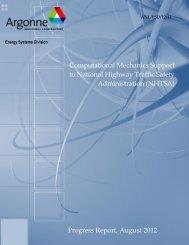 Progress Report, August 2012 - Argonne National Laboratory
