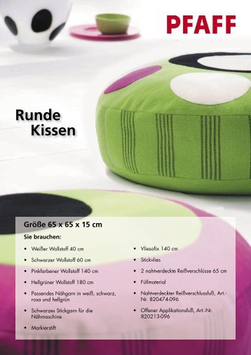 Runde Kissen - Pfaff