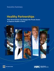 Healthy Partnerships - Investment Climate