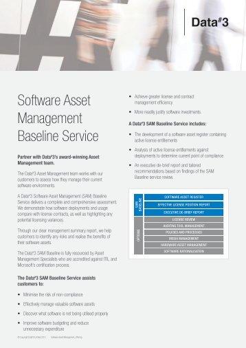 Software Asset Management Baseline Service - Data#3