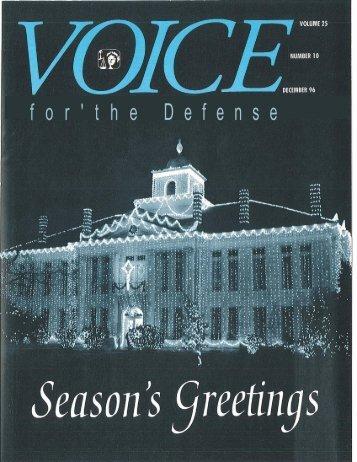 f o r ' t h e D e f e n s e - Voice For The Defense Online