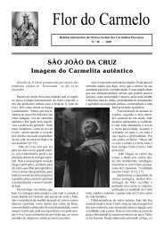 Flor do Carmelo Nº 38 - Ordem dos Padres Carmelitas Descalços