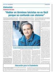 Entrevista - Asociación Europa Laica