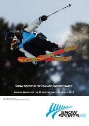 Snow Sports NZ Annual Report 2012 - Snow Sports New Zealand
