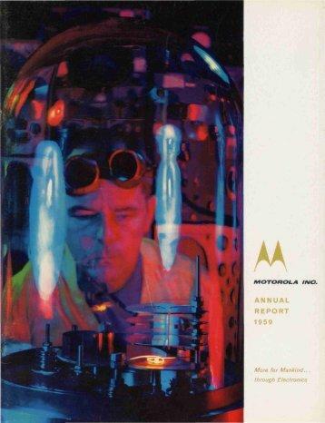 ANNUAL REPORT 1959 - Motorola Solutions