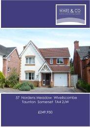 57 Nordens Meadow Wiveliscombe Taunton Somerset TA4 ... - ISSL