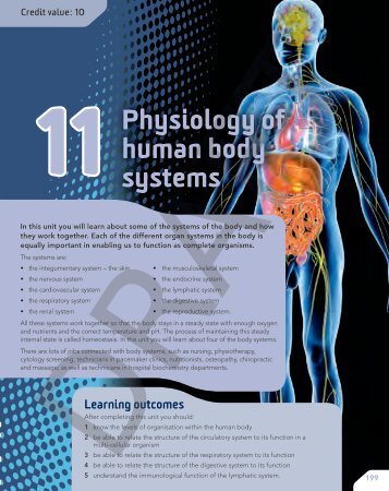 11Physiology of human body systems - Pearson Schools