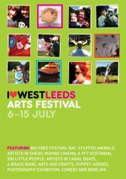 I WESTLEEDS ARTS FESTIVAL 6–15 JULY