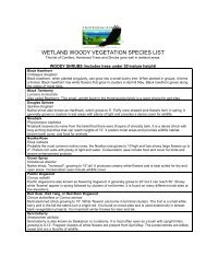 wetland woody vegetation species list - Snohomish Conservation ...