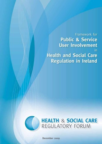 Framework for Public & Service User Involvement in Health and ...