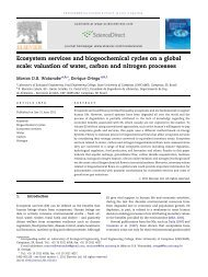 Ecosystem services and biogeochemical cycles on a global scale ...