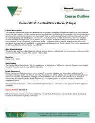 Course 312-50: Certified Ethical Hacker - Corporate Training Group ...
