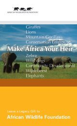 Make Africa Your Heir - African Wildlife Foundation