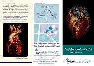 Cardiac CT Patient Information Brochure - Sydney Adventist Hospital