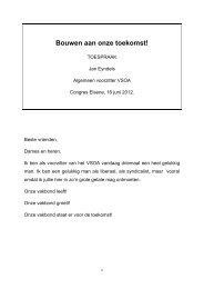 Toespraak Voorzitter Jan Eyndels - VSOA