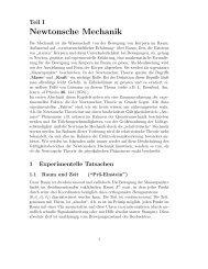 Newtonsche Mechanik - Institut für Theoretische Physik