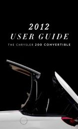 2012 Chrysler 200 Convertible User's Guide