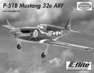 P-51B Mustang 32e ARF Manual - Horizon Hobby