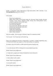 Jegyzőkönyv a Képviselő-testület 2008. 12. 11-én megtartott üléséről