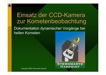 Einsatz der CCD-Kamera zur ... - harpoint observatory