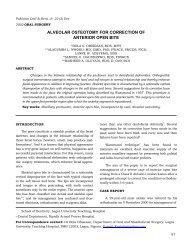 Alveolar Osteotomy for Correction of Anterior Open Bite - Bola 0 ...