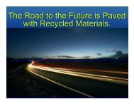 The Road to the Future is Paved with Recycled Materials.