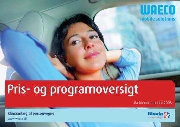 Pris- og programoversigt - Waeco