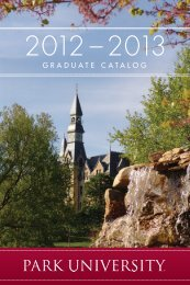 graduate catalog 2012-2013 - Park University