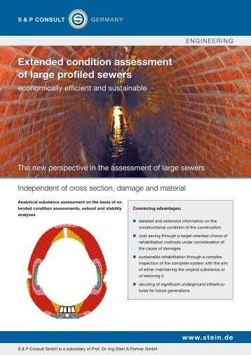 Extended condition assessment of large profiled sewers