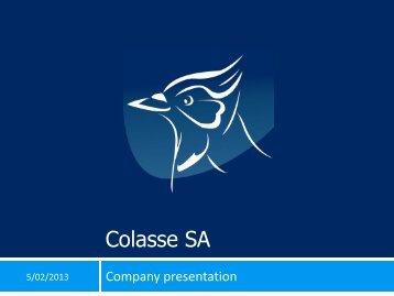 Company Presentation - COLASSE SA