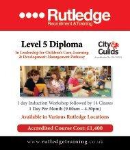 Level 5 Diploma In Leadership For Children's Care ... - Training