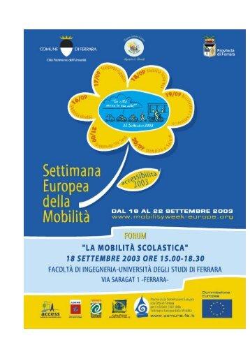 Mobilità scolastica - Comune di Ferrara