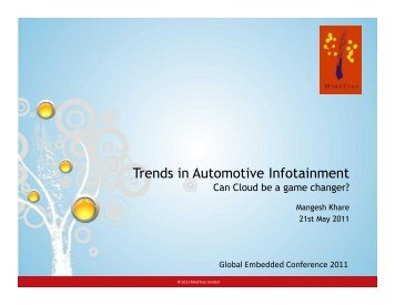 Trends in Automotive Infotainment