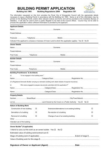 Kansas City Building Permit Application