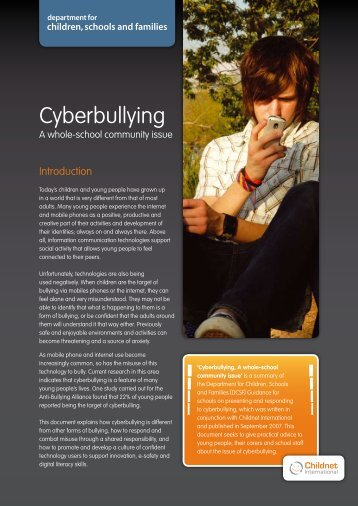 Cyberbullying - Teachers' Occupational Safety and Health Website