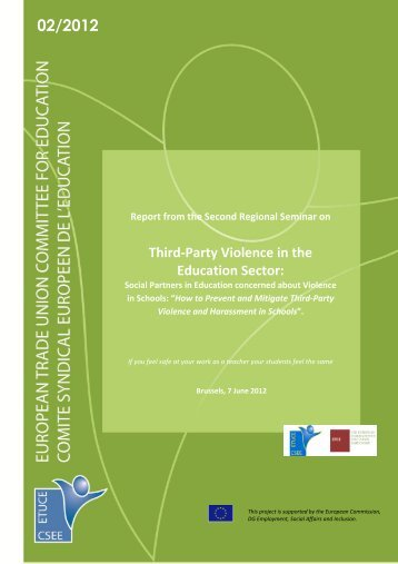 Third-Party Violence in the Education Sector: - Teachers ...