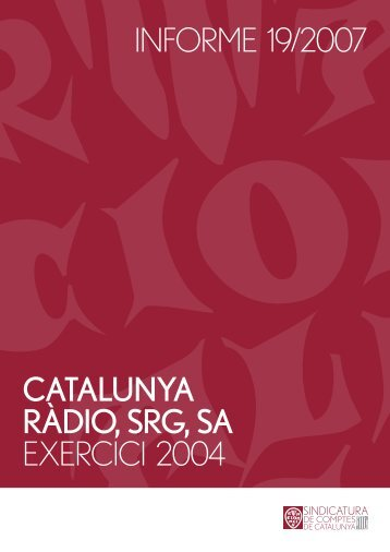 Informe 19/2007 - Generalitat de Catalunya