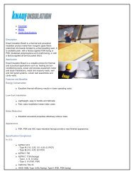 Submittal MSDS Guide Specifications Description Knauf Insulation ...