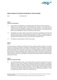 REGULATIONS OF THE EXECUTIVE BOARD OF THE DHV GROUP