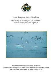 Disposisjon for tolking i MOSJ 2002-08-05 - Norsk Polarinstitutt