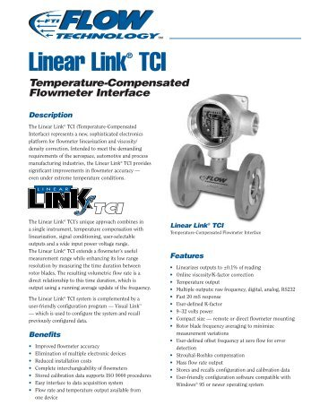 Linear Link Temperature-Compensated Flowmeter Interface