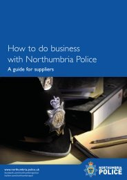 A guide for suppliers - Northumbria Police