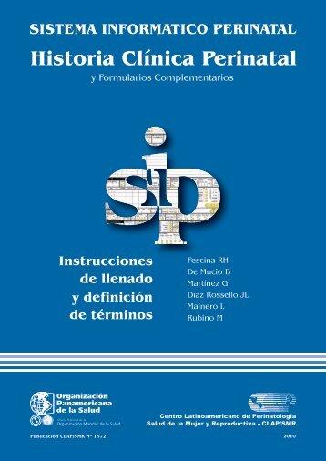 Historia Clínica Perinatal y formularios - CLAP 2010 - Prenatal