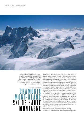 Chamonix mont-BlanC Ski de haute montagne - Keith Strandberg