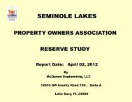 reserve study presentation - Seminole Lakes Country Club